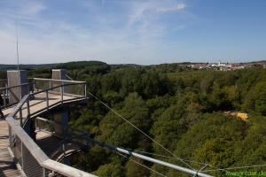 Sicht von der Aussichtsplattform