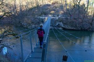 Hängebrücke über die Donau