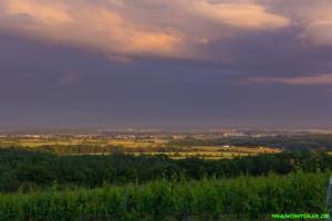 Blick ins Tal am Abend