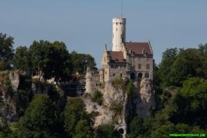 Blick auf das Schloss Lichtenstein