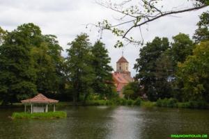 Weiher und Kirche in Treuenbrienzen