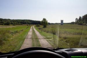 Fahrt auf dem Kolonnenweg