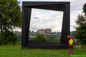 Blick auf die Burg Burghausen