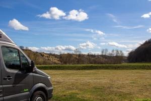 Blick vom Stellplatz ins Eselsburger Tal
