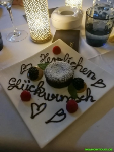 Geburtstagsgrüße im Restaurant